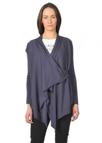 Calvin Klein Jeans, Woman Navy Blue Asymmetric Cardigan