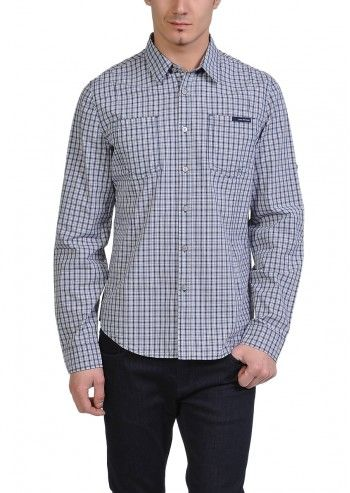 Calvin Klein Jeans, Man Checking On U Mineral&Gray Shirt