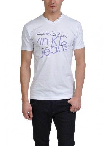 Calvin Klein Jeans, Man Sean White T-shirt