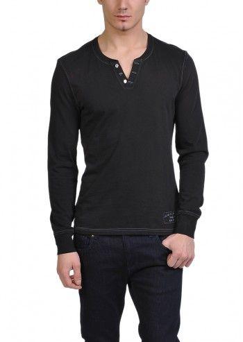 Calvin Klein Jeans, Man Cozy Comfort Black Blouse