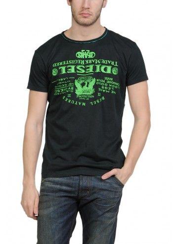 Diesel, Man Das Black T-shirt