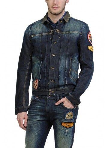 Diesel, Man Juzicon Faded Navy Denim Jacket