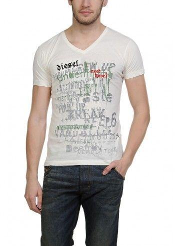 Diesel, Man Mole Ivory T-shirt