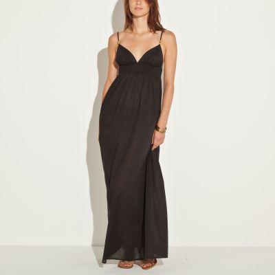 Rochie lungă cu bretele subţiri femei
