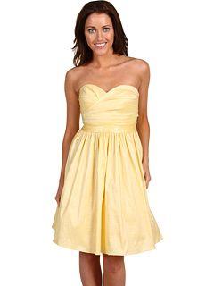 Calvin Klein (CK) Tafetta Dress With Sweetheart Neckline