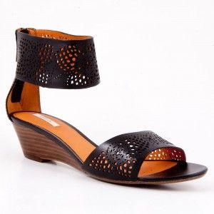 Sandale Geox negre din piele naturala
