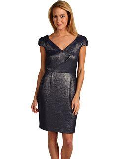 Calvin Klein (CK) V-Neck Cap Sleeve Dress