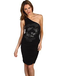 Ed Hardy Asymmetrical Dress Stone Skull And Roses
