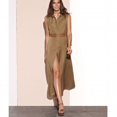 Rochie lungă fara mâneci stil bluza
