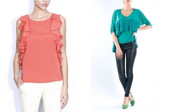 Bluze cu guler-volan, tendinte feminine in moda