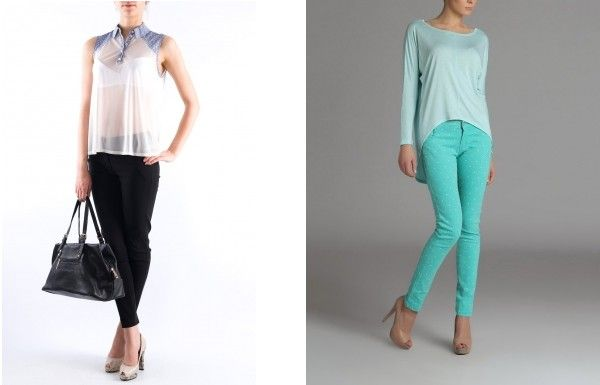 Pantaloni cu croiala skinny