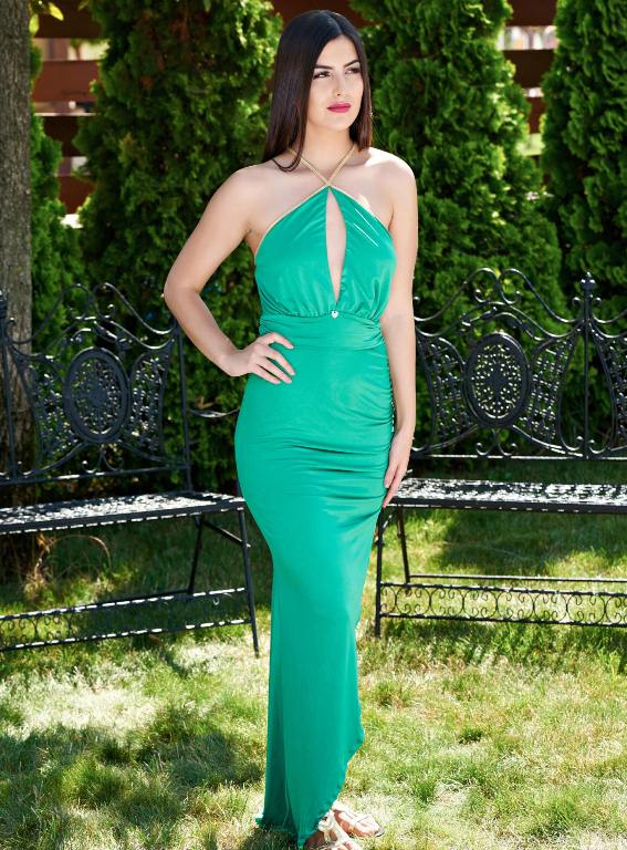 rochie-lunga-verde