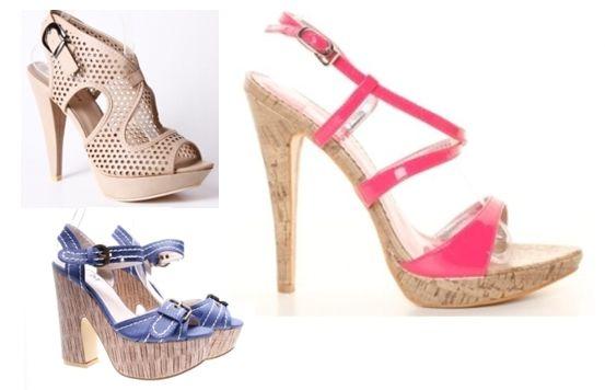 Sandale cu toc inalt si platforma