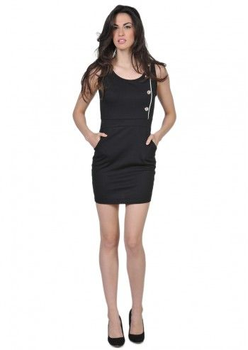 Pussycat London, Minimalist Beauty Black Dress