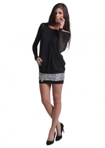 Gas, Violette Black Dress