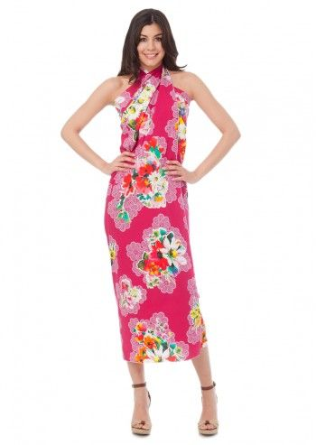 D&G, Dream On Floral Fuchsia Pareo