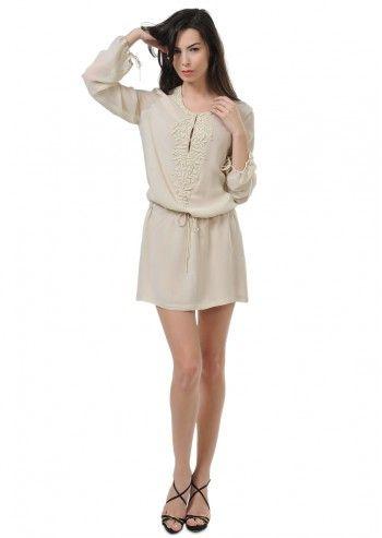 Tru Trussardi, Fedora Beige Tunic Dress