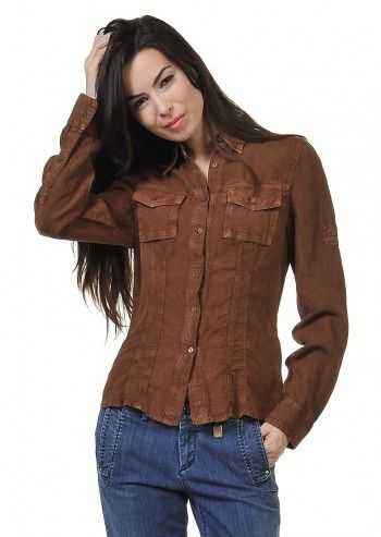 Trussardi Jeans, Andorra Brown Shirt