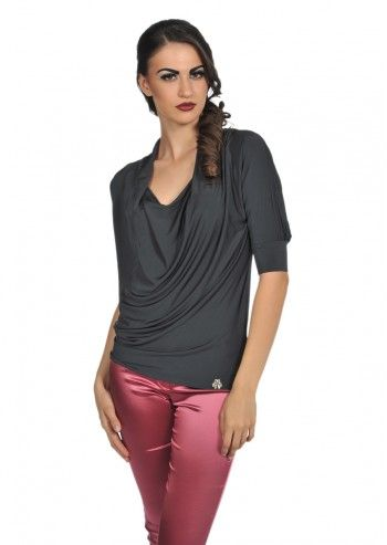 Galliano, Clubbing Gray Blouse