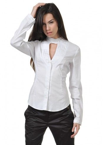 Trussardi Jeans, White Emillia Shirt