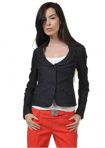 Trussardi Jeans, Navy Blue Denim Miriam Jacket