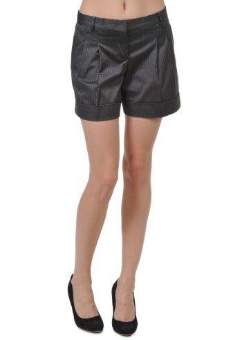 Tru Trussardi, Daria Anthracite Gray Short Pants