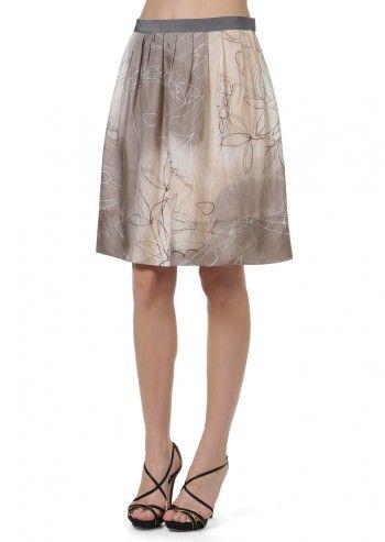 Tru Trussardi, Petunia Multicolored Skirt