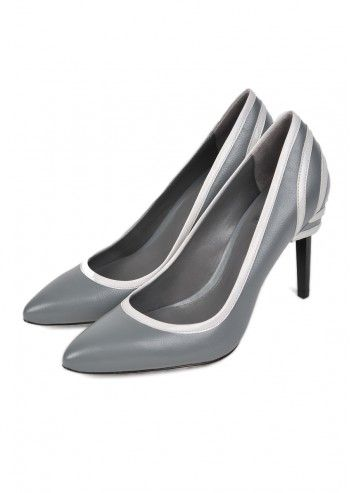 CK Calvin Klein, Woman Tara Gray Leather Shoe