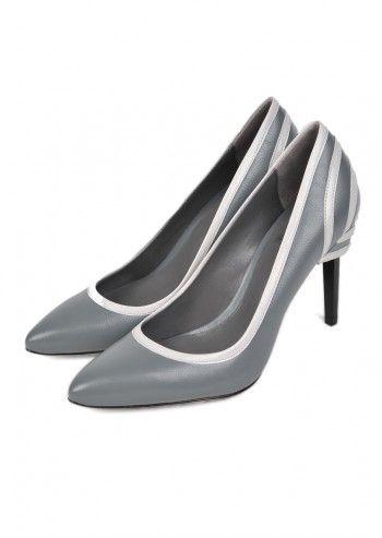 CK Calvin Klein, Woman Tara Gray Leather Shoe