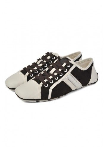 CK Calvin Klein, Man Boban Dark Brown&Ivory Leather Shoes