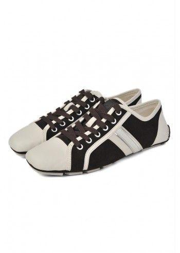 CK Calvin Klein, Man Boban Dark Brown&Ivory Leather Shoes