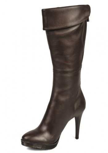 CK Calvin Klein, Woman Kolina Brown Leather Boots