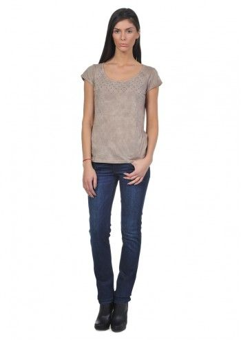 Calvin Klein Jeans, Woman Sweet Temptation Taupe T-shirt