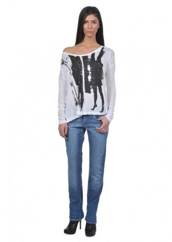 Calvin Klein Jeans, Woman Sabrine White Blouse