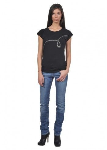 Calvin Klein Jeans, Woman Janine Black T-shirt