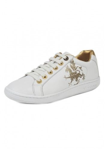 Lotto Leggenda, Woman White&Gold Leather Shoes