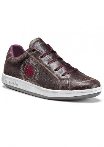 Lotto, Woman Mi Donna Bronze Leather Sport Shoes