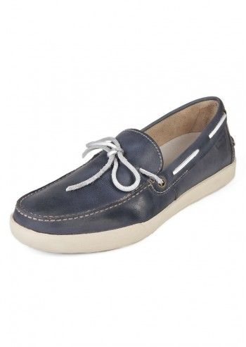 L73 by Lotto, Navy Blue Leather Boat Shoes