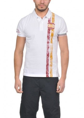 Lotto, Man Roma Tenis Club White Polo T-shirt
