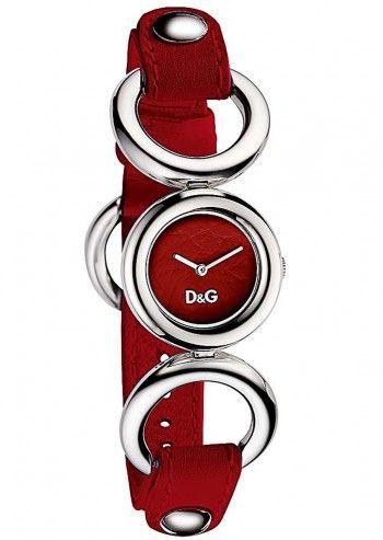 D&G, Ceas de dama cu curea rosie