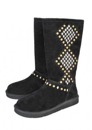 UGG® Australia, Woman Avondale Black Suede Boots