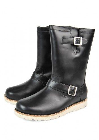 UGG® Australia, Man Carnero Black Leather Boots