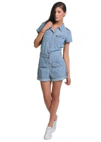 Levi's®, Woman Donna Blue Short Jumpsuit