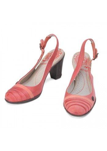 Cubanas, Ryna Rose Leather Slingback Shoes