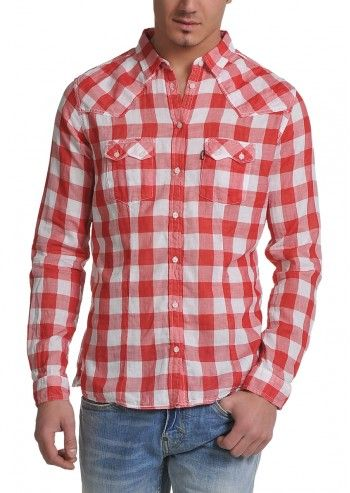 Levi's®, Man Sundown Red&White Checkered Shirt