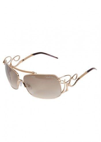 Roberto Cavalli, Woman Iris Golden Sunglasses