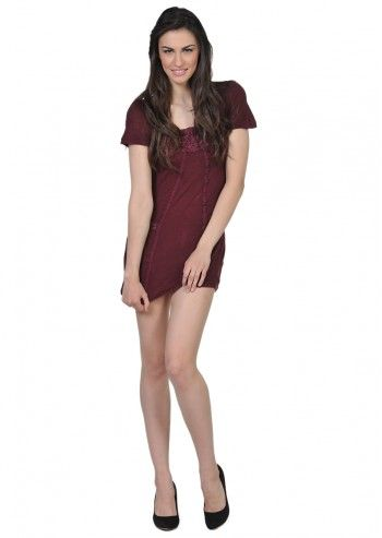 Pussycat London, Sweet Wine Burgundy Dress