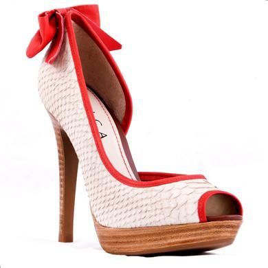 Pantofi platforma peep toe cu toc de 11.5 cm
