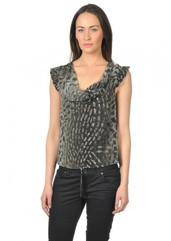 Bluza eleganta cu imprimeu grafic Calvin Klein