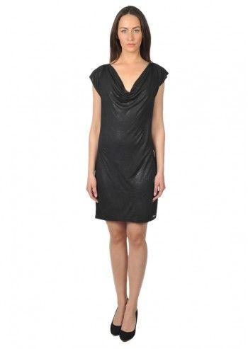 rochie neagra cu aspect usor lucios